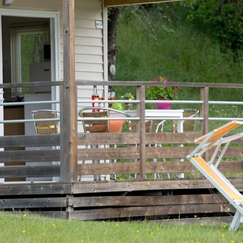 Terrasse mobil-home Castillon plus