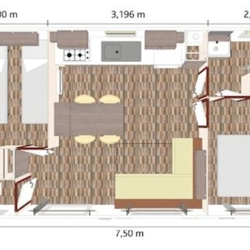 Plan du mobil-home Moustiers